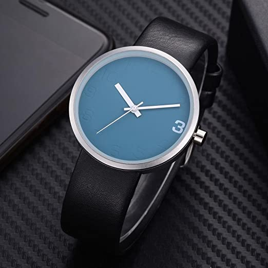 Amazon.com: TOMI ,T021 Mens Watch(1 x Watch + 1 x Box) Ikevan Simple Style Casual Men s Rounded Bussines Retro Design Leather Band Watch (Color A): PU ...