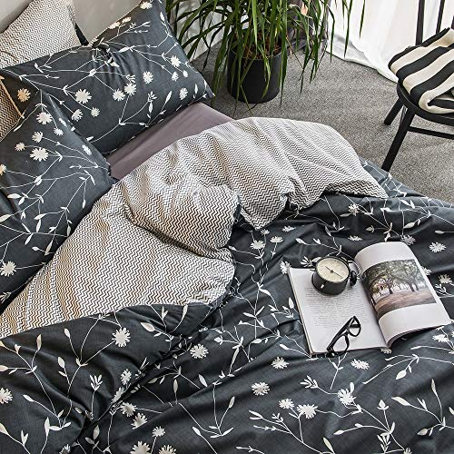 white floral branches bedding sets