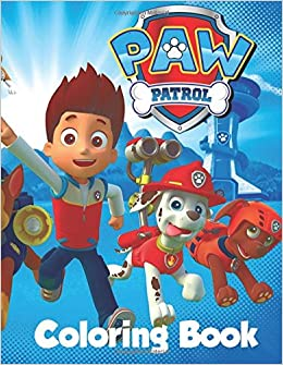Paw Patrol Coloring Book In The 60 Page A4 Size Coloring Book For