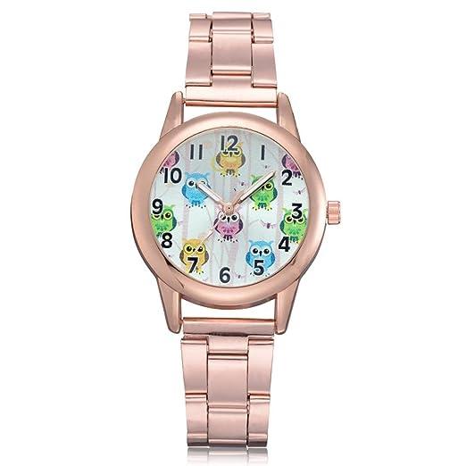 Relojes de Mujer Rosa 2018 Elegantes Pulsera de Diamantes de Imitación por ESAILQ