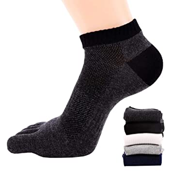 FULLANT 5 Pares para Hombre Five Finger Toe Calcetines Algodón Calcetines De Running Mini