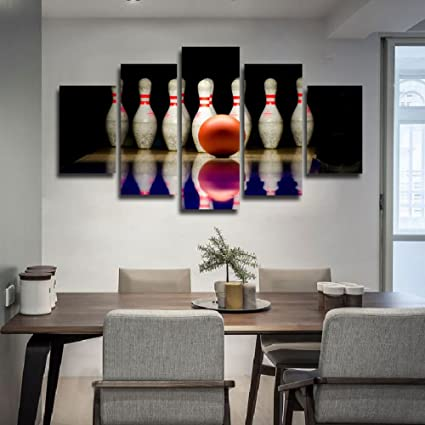 Canvas Art Bowling Ball Painting Wall Pictures For Living Room Sports  Poster Modern Artwork Wall Art