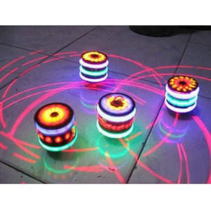 LED Licht Magic Music Spinning Tops Gyroskop Gl/ühende Musik-Kreisel mit buntem Flash-Geschenk f/ür Baby Boys Kinder Kinder 2pcs