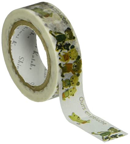 SEAL-DO Shinzi Katoh Washi Masking Tape, Ours en Peluche (ks-mt