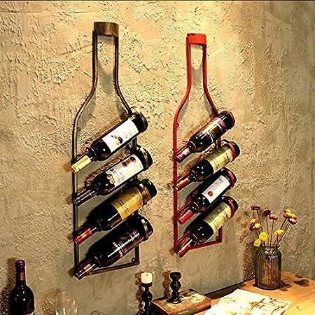 RENJUN Estante De Vino para Colgar En La Pared Decoraci/ón De La Pared del Hogar Estante Barra De Pared Estante para Botellas De Vino Estante De Almacenamiento En Rack Botellero de Vino Size : A
