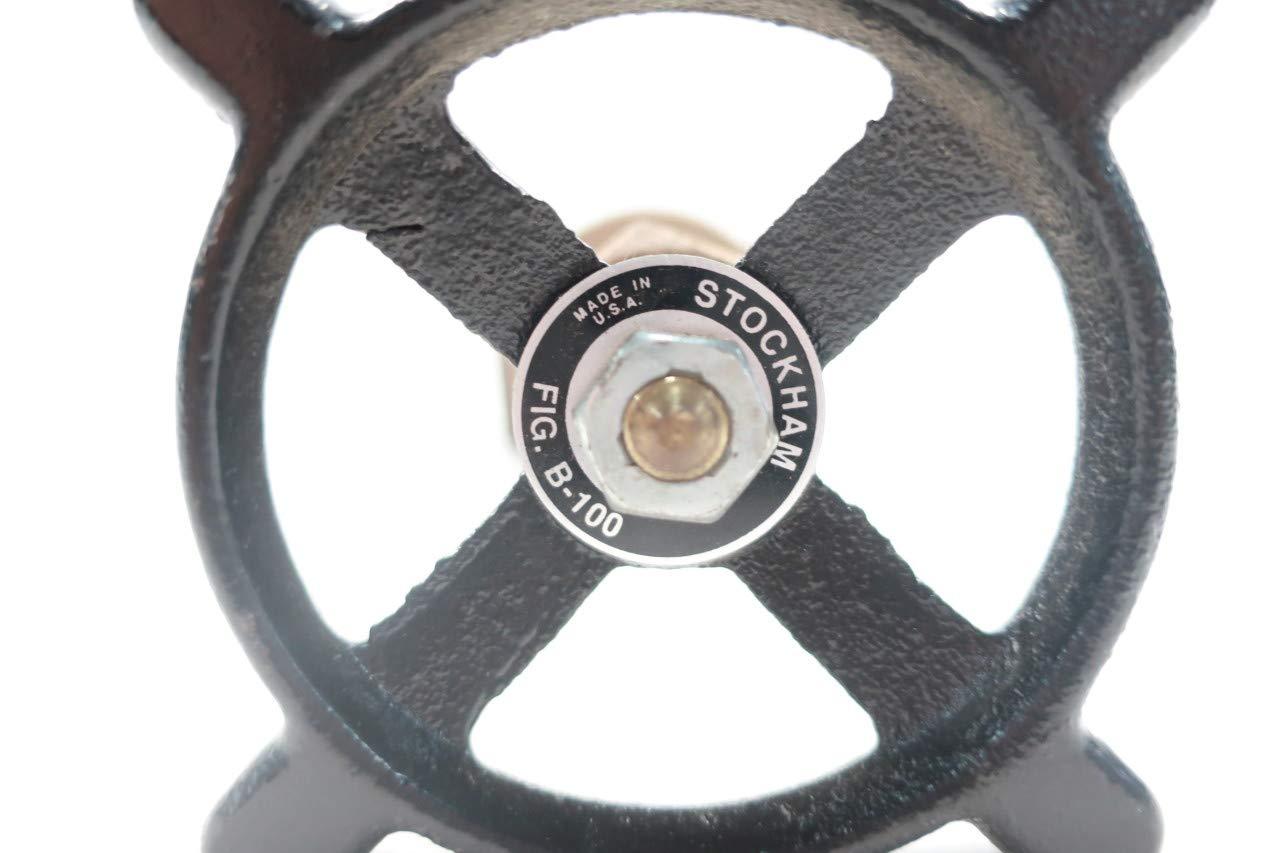 STOCKHAM B-100 Manual Brass Threaded GATE Valve 1-1//2IN NPT