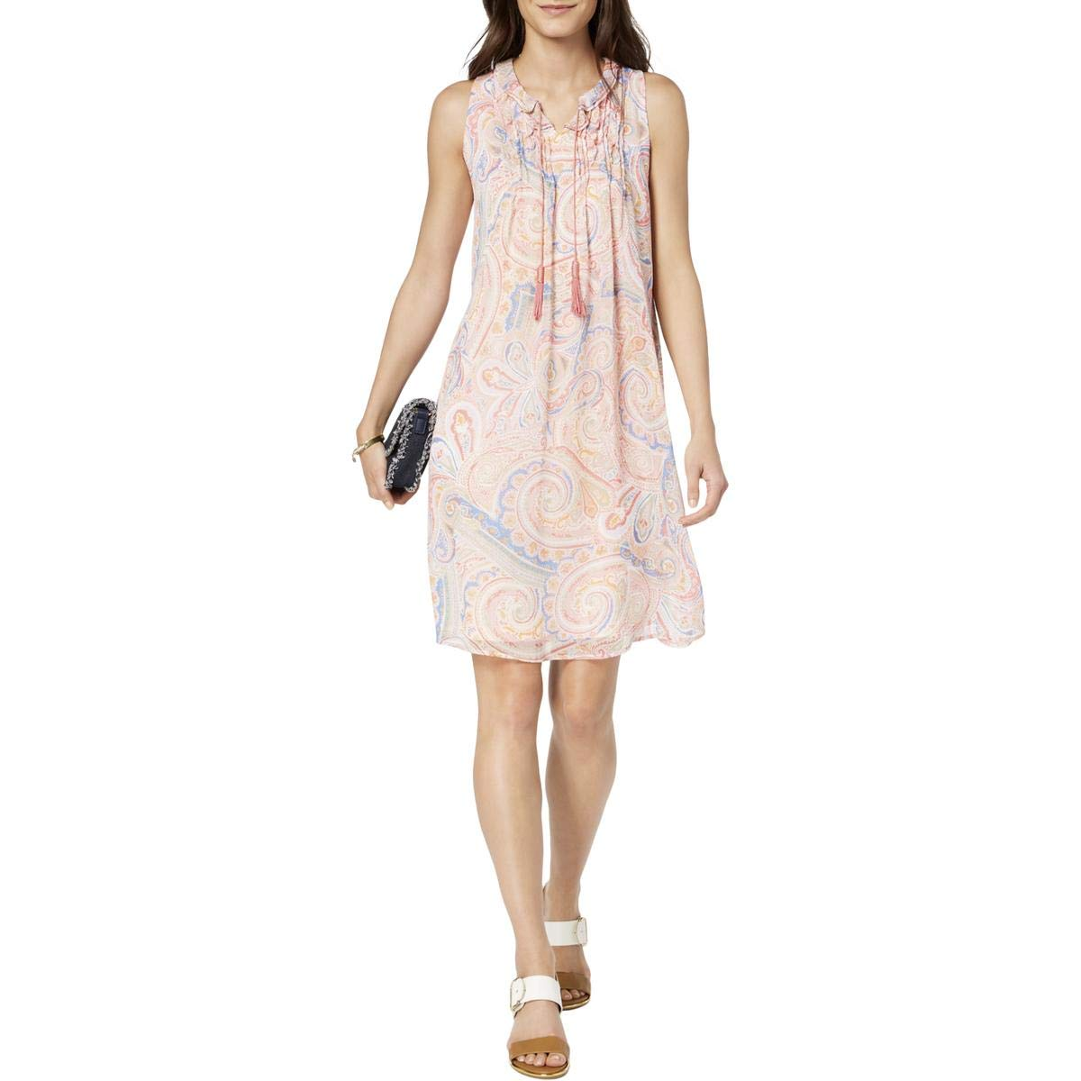 Tommy Hilfiger Women/'s Paisley-Print Sheath Dress