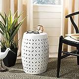 Safavieh Castle Gardens Collection Lattice Petal White Ceramic Garden Stool: more info