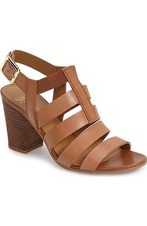 Franco Sarto Women's MONTAGE Dress Sandal SADDLE LEATHER,7