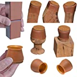 """3/4"""" Small Chair Leg Covers, Felt Bottom Silicone Furniture Foot Protector Pads, 16 Pcs Free Moving Table Leg Caps, Stool Leg"""