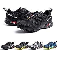 Zapatillas De Trail Running Impermeables para Hombre Mujer Zapatillas Trekking Zapatos Senderismo Deporte Negro Azul…