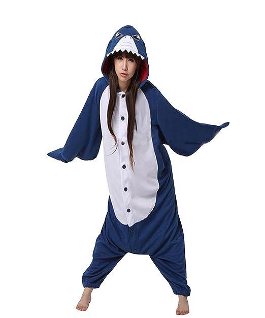 Vu Roul Animal ropa disfraz para adultos de tiburón pijama Cosplay estilo: Amazon.es: Ropa y accesorios