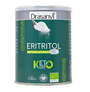 DRASANVI Eritritol Keto 500 gr - Gourmet Foods and Groceries - Pantry Basics - Cooking and Baking - Sugar Substitutes - Sweetener - Health Care - Healthy Recipes - Organic - Gluten Free - Vegan