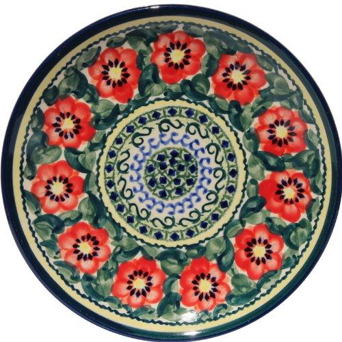 Polish Pottery Plate 7.5 Inch From Zaklady Ceramiczne Boleslawiec #Gu-814-134 Art Unikat Signature Pattern, 7.5 Inch Diameter