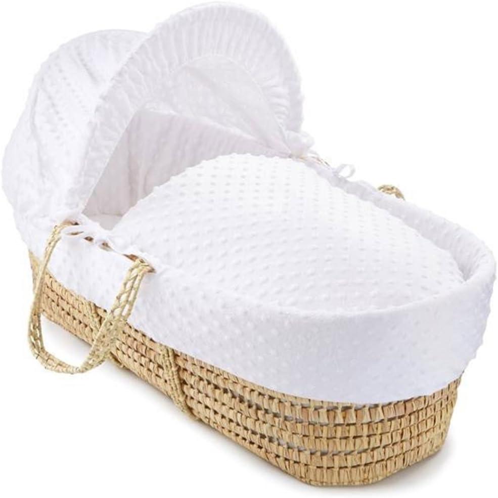 habillage et pied de couffin /à bascule blanc MCC Ensemble Couffin en osier naturel avec matelas