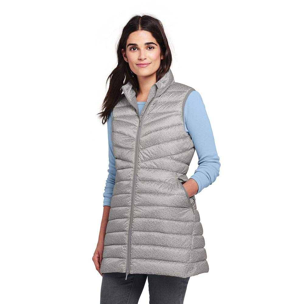 f9aa1bc1dbb Lands  End Women s Print Ultralight Long Down Vest Packable