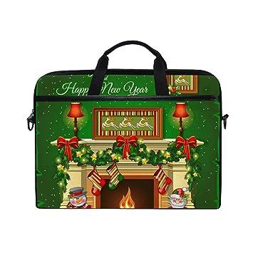 Ahomy - Calcetines de Navidad para Chimenea (14 a 15,4 Pulgadas, Tejido Multifuncional, Impermeable, maletín para Ordenador portátil, Bandolera): Amazon.es: ...