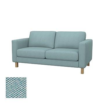 Soferia - Bezug fur IKEA KARLSTAD 2er-Sofa, Nordic Sea Green