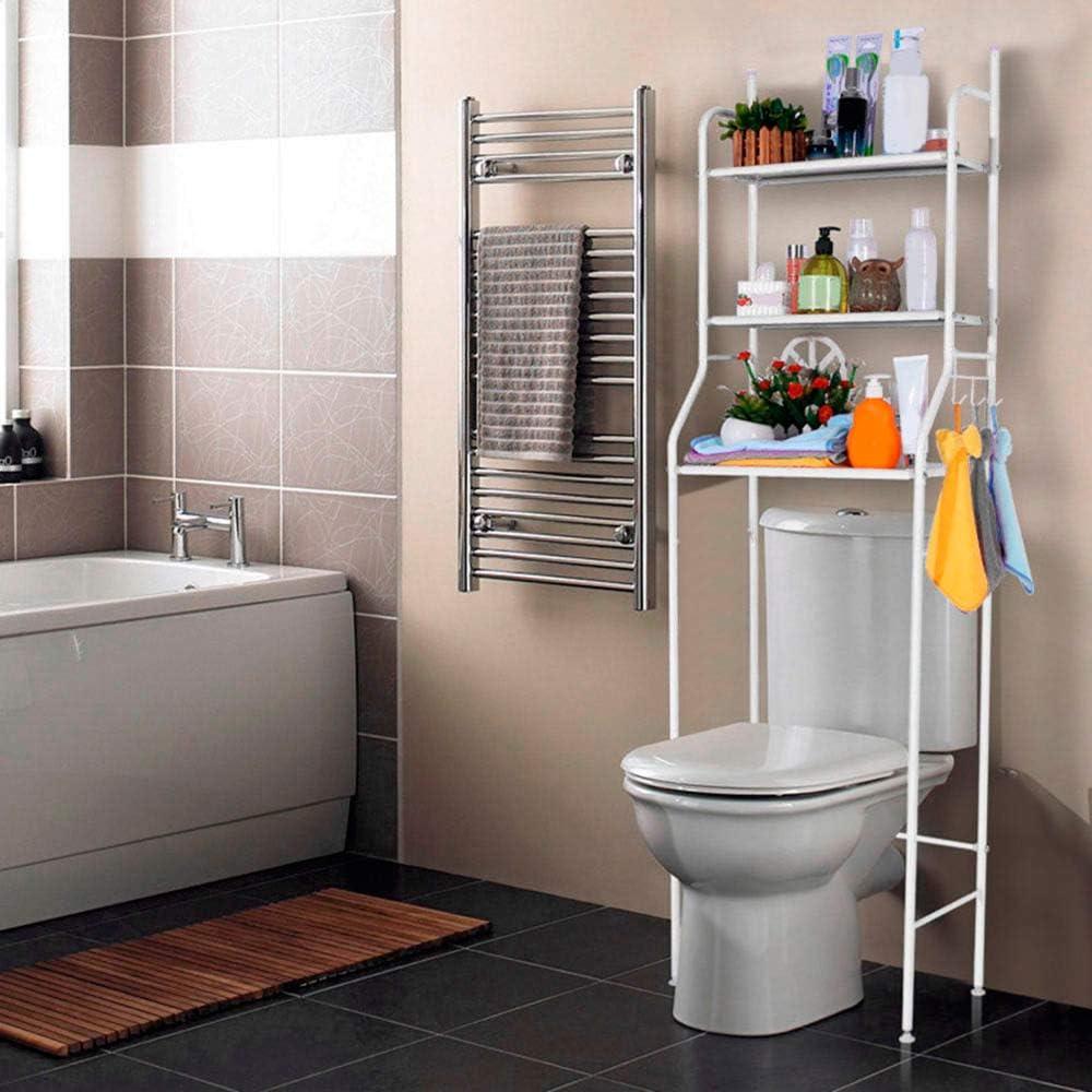 T-LoVendo Regal zum Aufstellen über dem Spülkasten oder der Waschmaschine,  platzsparend, für Badezimmer, Weiß, 16 x 16 x 16 cm