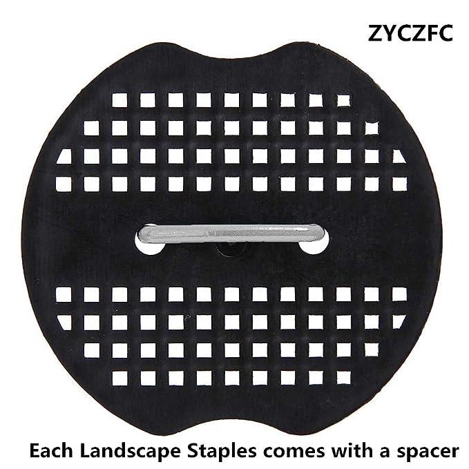 ZYCZFC Landscape Staples Plastic Gasket Rust Resistant Garden Stakes Plastic Spacer Blue or Black Random Color Plastic Spacer 20PCS