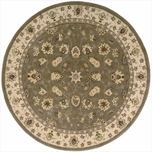 Nourison Nourison 2000 (2003) Olive Round Area Rug, 4-Feet by 4-Feet  (4' x 4')