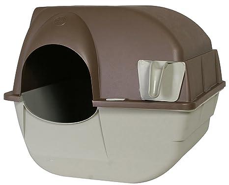 Omega Paw Rolln Clean Caja de Arena de Gato Autolimpiante Tamaño L