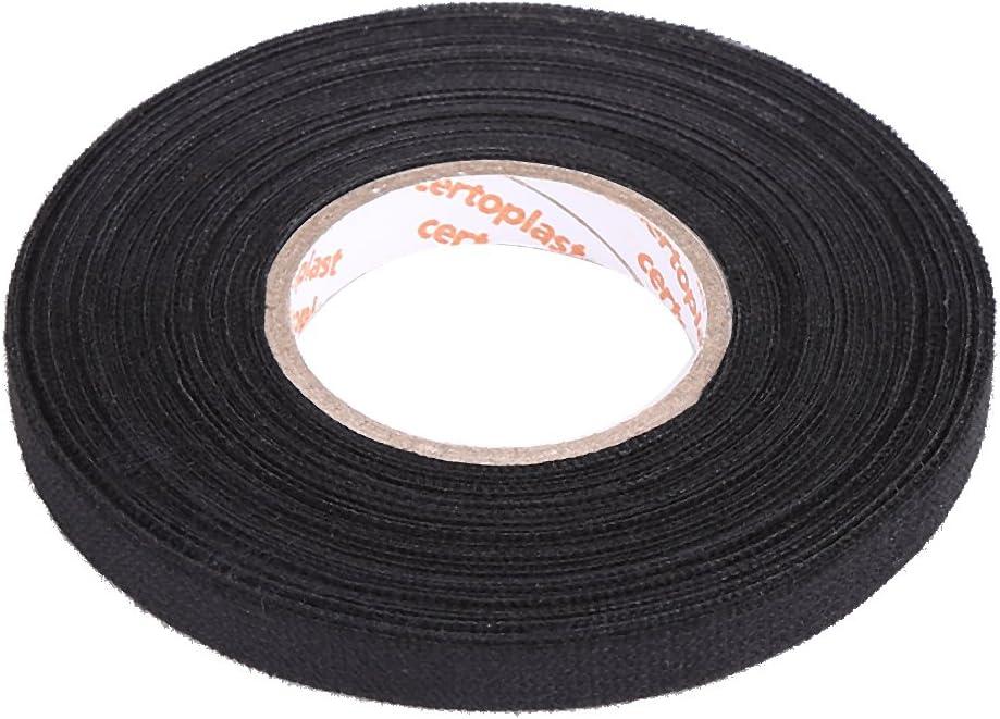 MultiPurpose Car Wiring Harness Tape, Keenso Self Adhesive Anti Squeak Rattle Felt Automotive Wiring Harness Tape, Black (9mm × 25m)