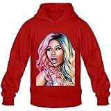 Mens Nicki Minaj Art Hoodies Sweatshirt Size US White
