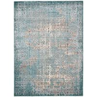 Nourison Karma (KRM01) Blu Runner Area Rug, 2-Feet 2-Inches 7-Feet 6-Inches (22 x 76)