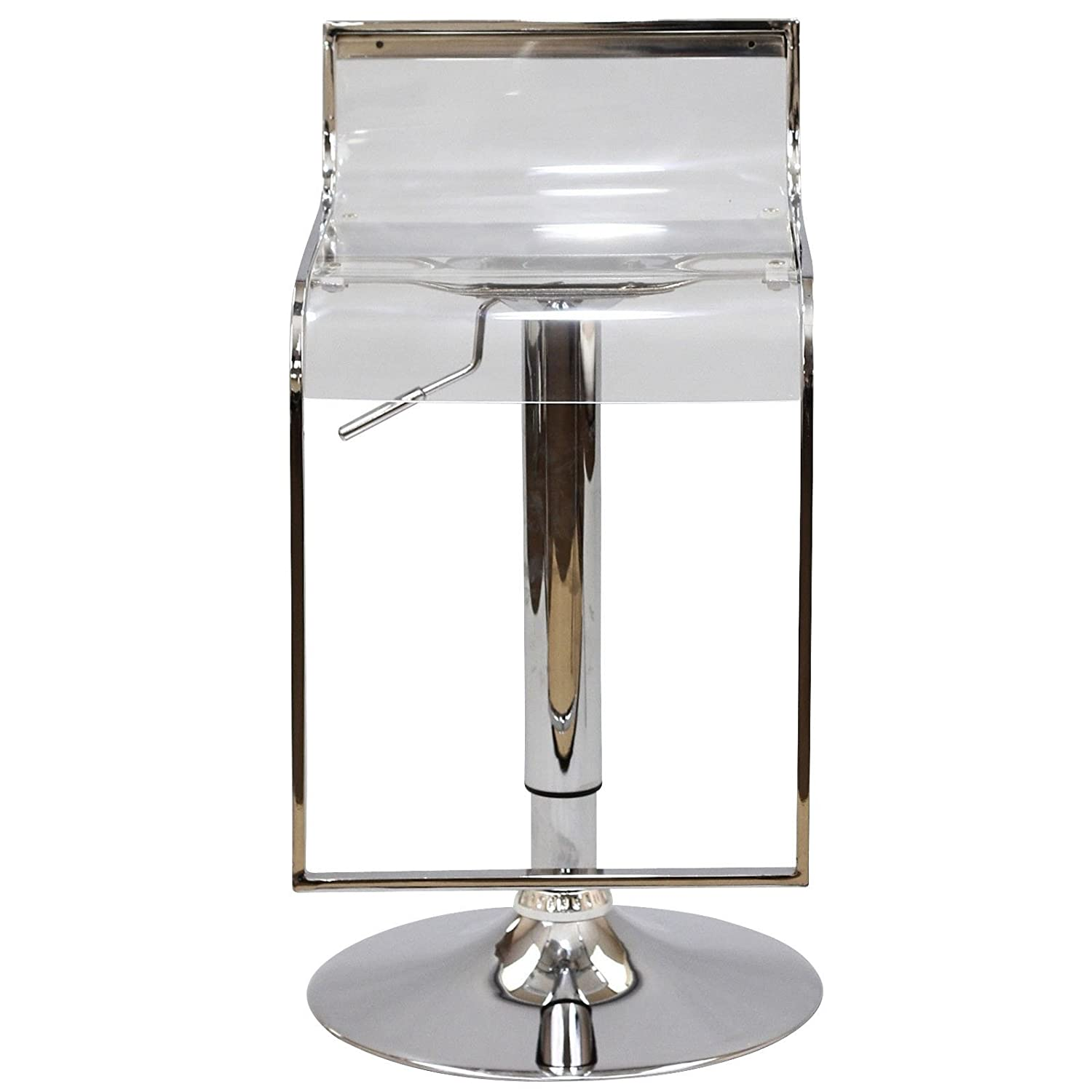 Acrylic Barstool Amazoncom Lem Acrylic Bar Stool In Clear Kitchen Dining
