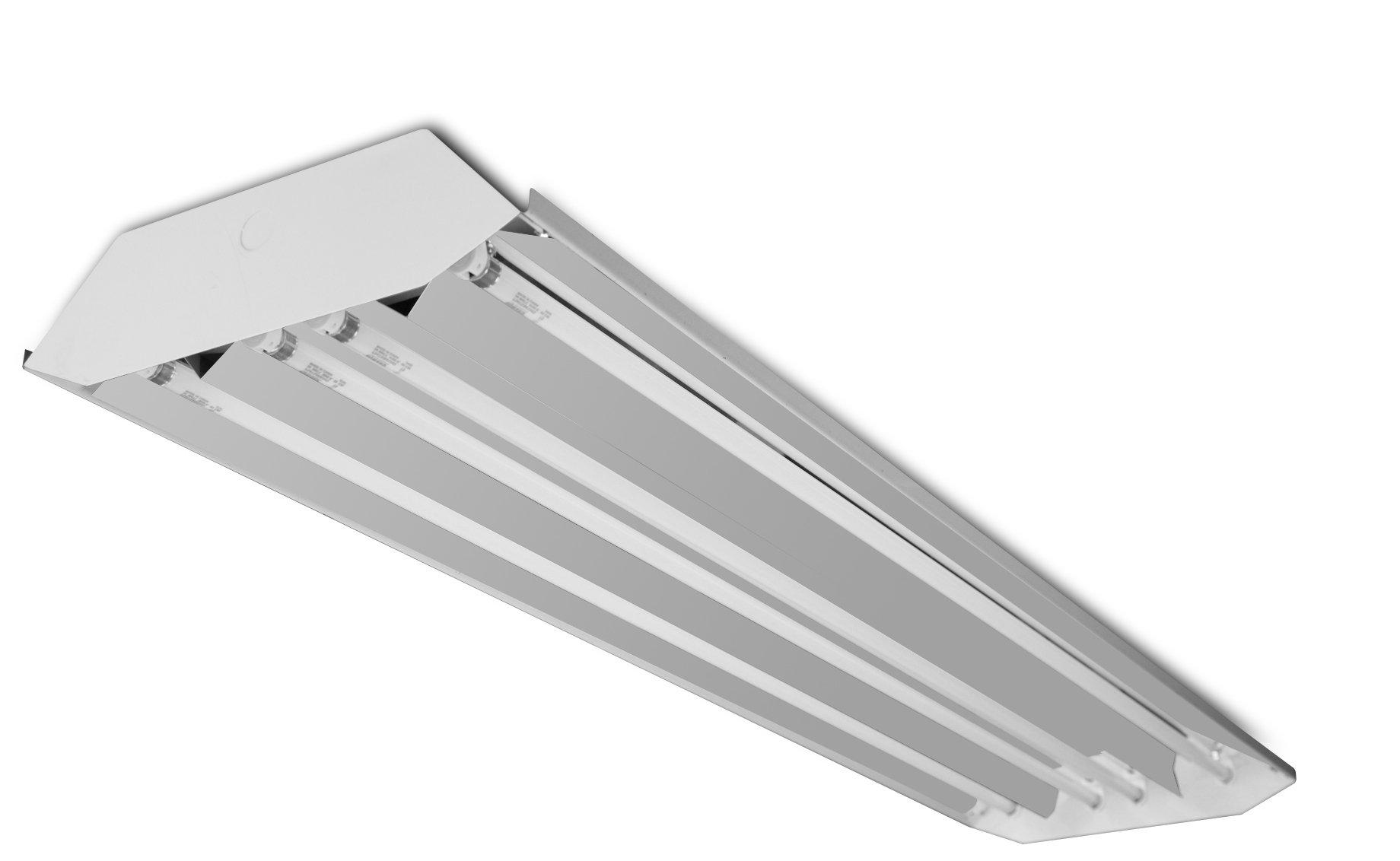 Howard Lighting HFB3E432AHEMV000000I 4 Lamp High Bay Fluorescent Enhanced Specular Aluminum Reflector