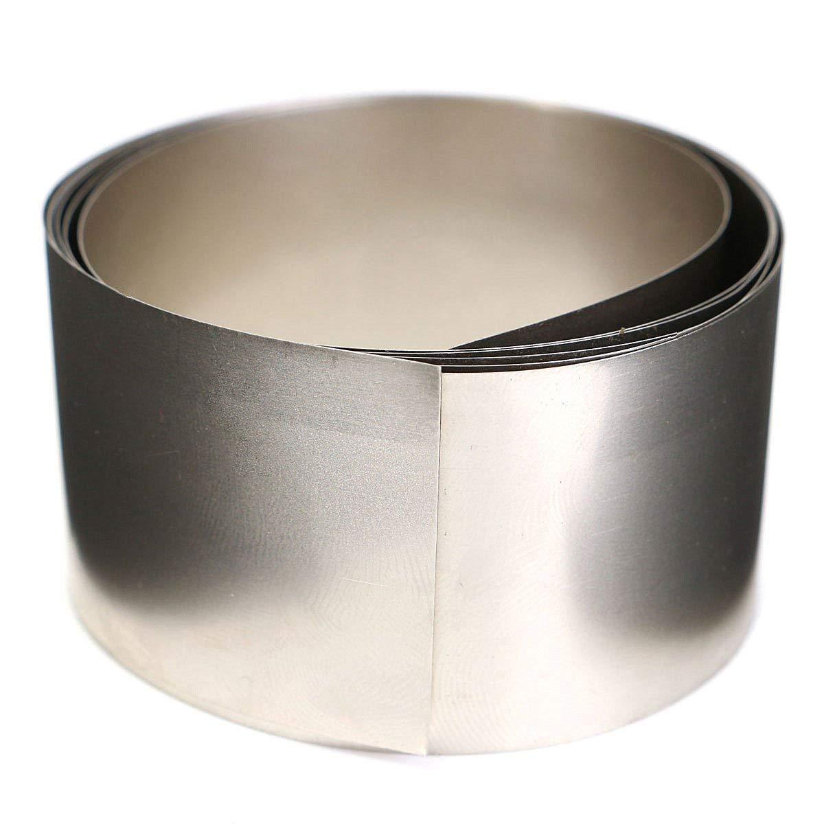 99.96% pure nickel metallo placcato argento grigio Ni in lamiera sottile lamina 0.1 x 30 x 1000 mm generic
