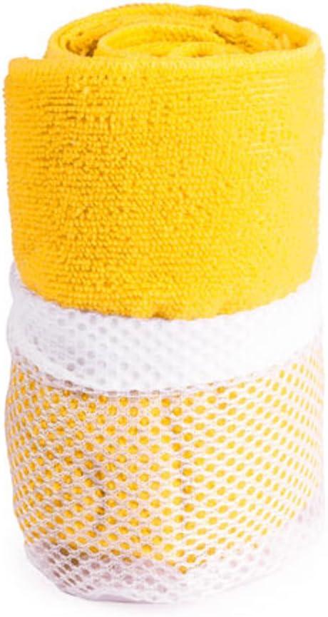 eBuyGB Absorbent Gym Towel Mesh Bag Yellow