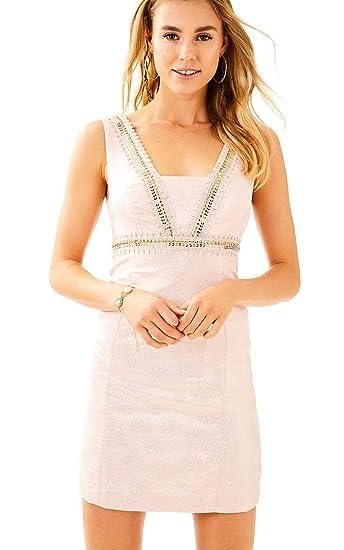 2f757a5ad5 Amazon.com  Lilly Pulitzer Women s Glisten Fan Jacquard Karter Shift ...