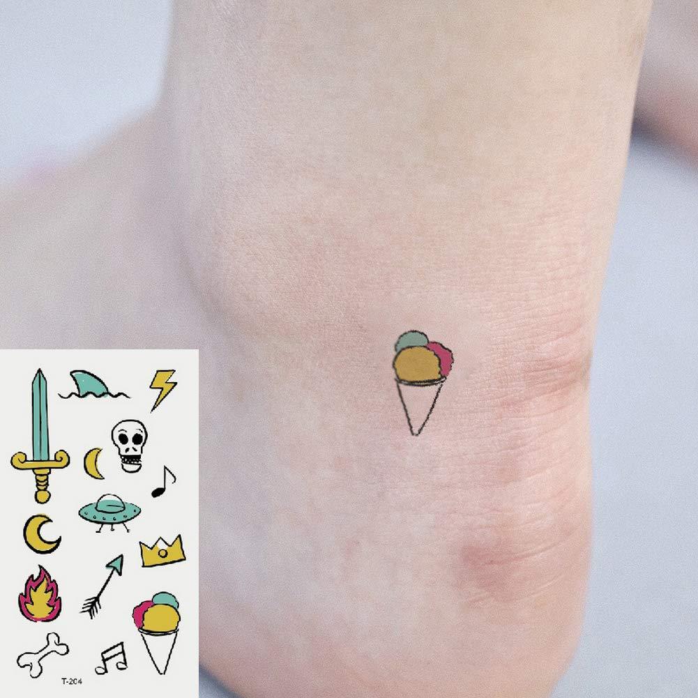 Oottati 2 Hojas Pequeño Lindo Tatuaje Temporal Tattoo Espada ...
