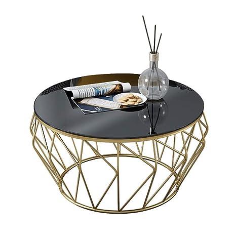 Mesa de café,Vidrio Templado Transparente Redondo Liso Geométrico ...