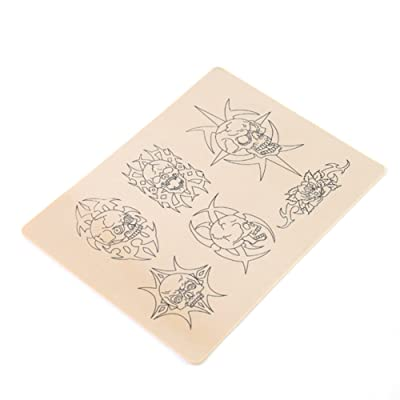 5 x Crânes Peaux Factice Synthétique Exercice Tatouage Skull Tattoo Practice Skins