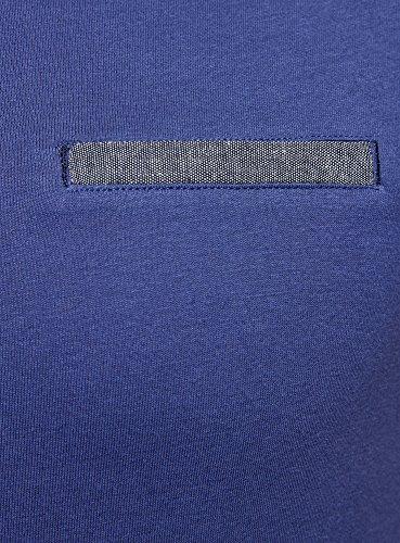 shirt 7575b Blu Oodji Decorativa In Uomo Ultra Con Cotone T Tasca PTHxAqTB