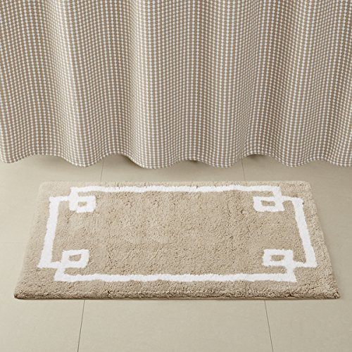 Madison Park Ethan Cotton Tufted Rug in Taupe | 24