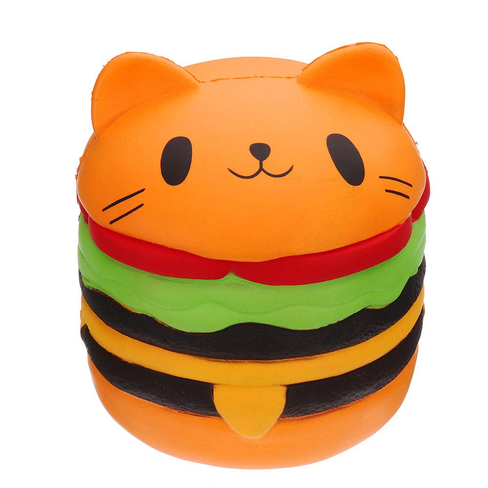Giant Squishy Toy Soft Jumbo Slow Rising Squishies Collection Gift Decor Stress Reliever (Cat Burger) by Ganjiang (Image #2)