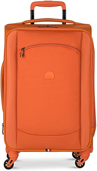 Amazon Com Delsey Hyperlite 2 0 Carry On Expandable Spinner Trolley Orange Carry Ons