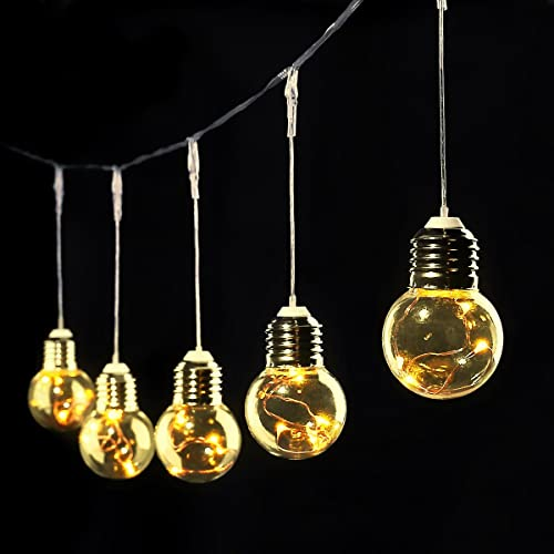Target Outdoor String Lights Replacement Bulbs: GloBrite VL1554 Battery Powered 10 LED Retro Festoon Bulb