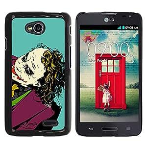 For LG Optimus L70 / LS620 / D325 / MS323 Case , Movie Joke Portrait Bat - Diseño Patrón Teléfono Caso Cubierta Case Bumper Duro Protección Case Cover Funda