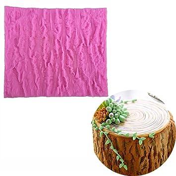 Línea de corteza de árbol Textura silicona Cake Moldes ...