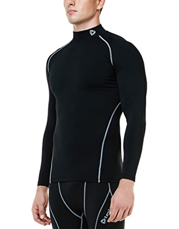 TSLA Men s Thermal Wintergear Compression Baselayer Mock Long Sleeve Shirt  YUT32   YUT42 d7602ef3e