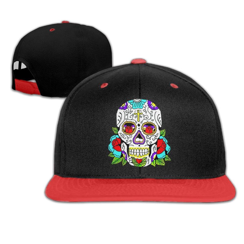 Hip Hop Caps Sugar Skull Design Art Cotton Hats Adjustable Unisex Baseball Cap