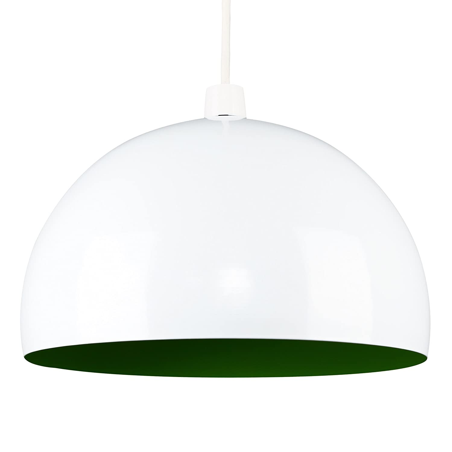 modern gloss white green metal dome ceiling pendant light shade