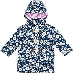 JoJo Maman Bebe Fishermans Coat (Baby) - Navy Floral-18-24 Months