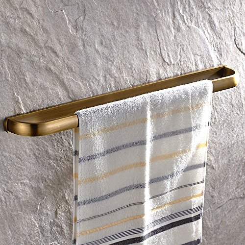 Leyden Retro Bathroom Accessories Solid Brass Antique Brass Finished Towel Bar Home Decor Towel Holder Towel Bars Wall maounted (Towel Bar Bathroom Accessory Antique)