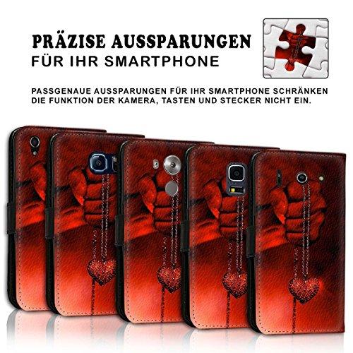 Wallet Book Style Flip Handy Tasche Case Schutz Hülle Schale Motiv Etui für Apple iPhone 6 Plus / 6S Plus - Design Flip MV140